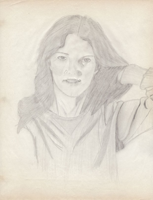 Lindsay Wagner, 1979 - 212 x 277 mm (8.33 x 10.9 inches), graphite pencil on paper